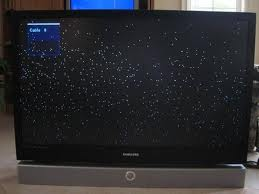 Mitsubishi white dots on screen